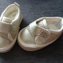 tênis dourado - 15 - Rech Baby