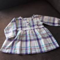 vestidinho manga longa xadrez - 3 meses - Carter`s