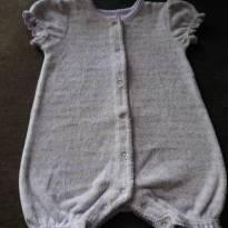 macaquinho lilás listadinho de verde - 3 a 6 meses - Baby Club