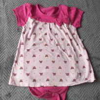 Vestido body de caranguejinhos - 9 a 12 meses - Teddy Boom