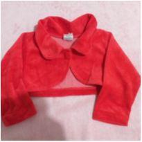 Bolero vermelho de plush - 1 ano - Não informada