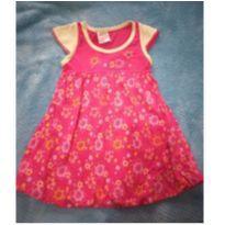 Vestido rosa com detalhes em amarelo - 2 anos - Não informada
