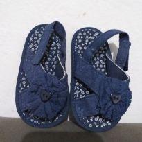 Sandália azul marinho para bebês - 19 - Não informada