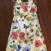 Vestido verão floral, chique, tam 12 - 12 anos - Fanyland