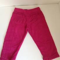 Calça de Sarja Pink - 3 a 6 meses - Nini e Bambini