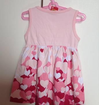 Vestido regata rosa com corações Kyly 6-9 meses - 9 meses - Kyly