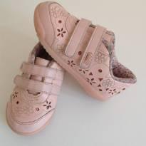 Tênis rosa com velcro, 21 - 21 - Kidy