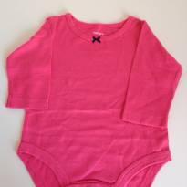 Body manga longa pink Carters - 0 a 3 meses - Carter`s