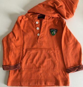 Camiseta com capuz laranja Carter's - 6 a 9 meses - Carter`s