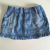 Saia jeans com babado na barra - 2 anos - Teddy Boom