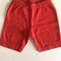 Shorts de lycra vermelho - 9 a 12 meses - Pulla Bulla