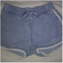 Shorts jeans com renda - 2 anos - Kids Denim Girls
