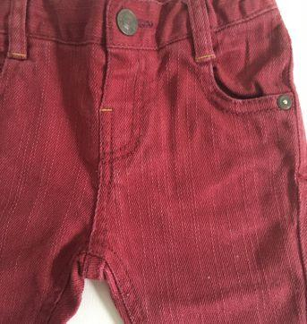 Calça jeans vinho - 6 a 9 meses - Chicco