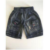 Shorts jeans - 6 a 9 meses - kibaby