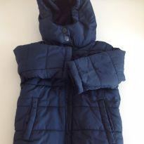 Jaqueta de nylon azul marinho - 6 a 9 meses - Baby Way
