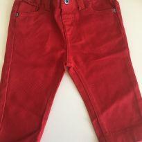 Calça jeans vermelha - 3 a 6 meses - Baby Club