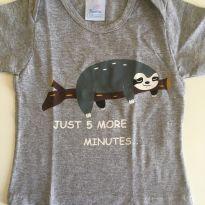 Camiseta cinza - 6 a 9 meses - Bambini