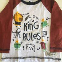 Camiseta The King - 6 a 9 meses - Teddy Boom