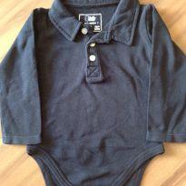 Body azul marinho - 9 a 12 meses - Teddy Boom