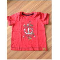 Camiseta vermelha - 6 a 9 meses - Teddy Boom