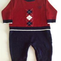 Macacão de tricot - 0 a 3 meses - Noruega Baby