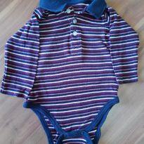 Body polo listrada - 9 a 12 meses - Teddy Boom