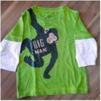 Camiseta manga longa verde Carter`s 6 meses - 3 a 6 meses - Carter`s