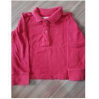 Camiseta polo manga longa - 9 a 12 meses - Zara Baby