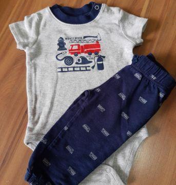 Conjunto calça e body bombeiros - Child of Mine - 3/6M - 3 a 6 meses - Child of Mine