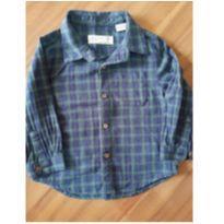 Camisa xadrez - 9 a 12 meses - Zara Baby