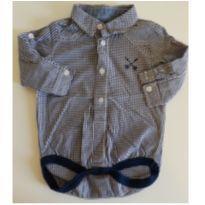 Body camisa xadrez, Baby Club, 6-9M - 6 a 9 meses - Baby Club