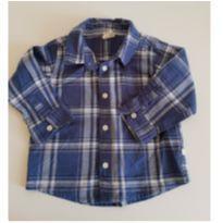 Camisa Xadrez Azul, Teddy Boom, 9-12M - 9 a 12 meses - Teddy Boom