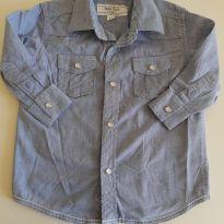 Camisa Jeans - 6 a 9 meses - Baby Club