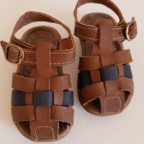 Sandália marrom e azul - 19 - Klin