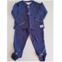 Pijama Azul Marinho - 3 a 6 meses - Carter`s