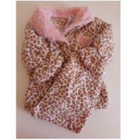 Conjunto de blusa e calça de oncinha bem quentinho, Guess 3 a 6 meses - 3 a 6 meses - Guess