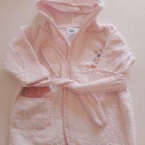 Roupão atoalhado rosa com capuz -  - Koala Baby