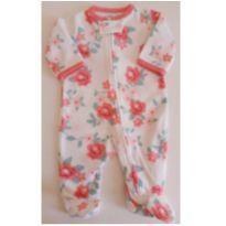 Macacão pijama fleece/plush quentinho Carter`s RN - Recém Nascido - Carter`s