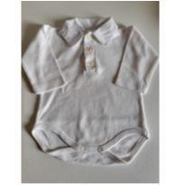 Body polo branco manga comprida Noruega Baby RN - Recém Nascido - Noruega Baby