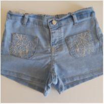 Shorts jeans bordado Tam. 3 - 3 anos - Baby Club