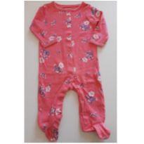 Macacão com pé rosa floral Carter`s 6M - 3 a 6 meses - Carter`s