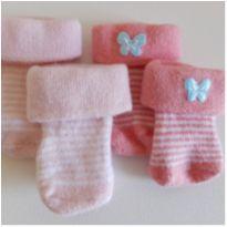 Kit de meias Carter`s RN - Recém Nascido - Carter`s