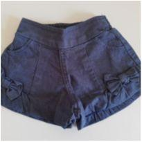 Shorts Jeans 3-6 meses - 3 a 6 meses - sem etiqueta