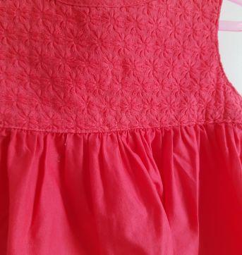 Vestido rosa Carter`s 9 M - 6 a 9 meses - Carter`s