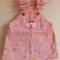 Salopete/Vestido Jeans rosa Lilica Ripilica 6-9M - 6 a 9 meses - Lilica Ripilica