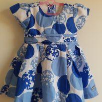 Vestido de festa branco e azul P - 0 a 3 meses - Anjos baby