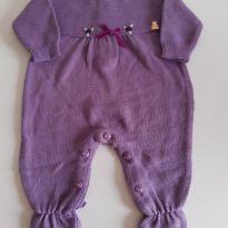 Macacão de tricot lilás Paola da Vinci RN - Recém Nascido - Paola Da Vinci