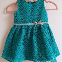 Vestido rendado verde Carter`s 6M - 3 a 6 meses - Carter`s