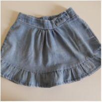 Saia jeans com babado na barra Tam. 3 - 2 anos - Elian