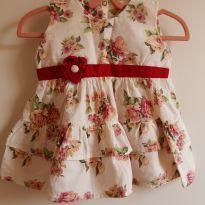 Vestido Floral com babados M - 6 a 9 meses - Tieloy